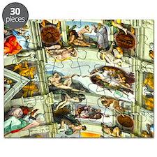 Sistine Chapel Ceiling square Puzzle