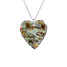 Sistine Chapel Ceiling square Necklace Heart Charm