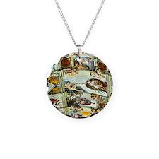 Sistine Chapel Ceiling squar Necklace Circle Charm