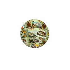 Sistine Chapel Ceiling square Mini Button