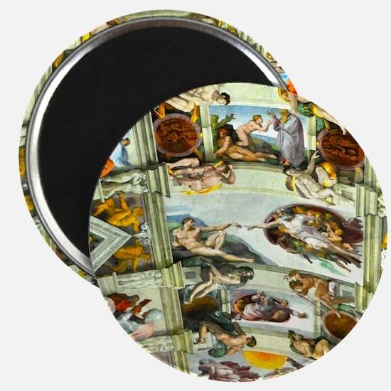 Sistine Chapel Ceiling square Magnet