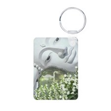 In the Garden - Quan Yin F Keychains