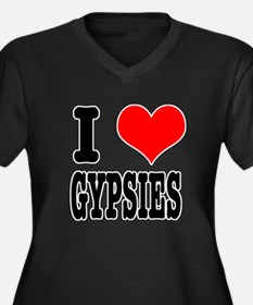 I Heart (Love) Gypsies Women's Plus Size V-Neck Da