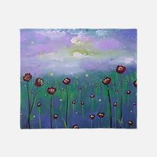 Firefly Roses Throw Blanket