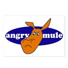 angry mule Postcards (Package of 8)
