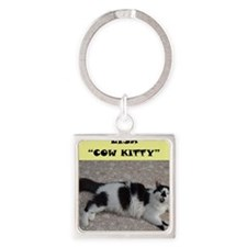 Lisa cow kitty Square Keychain