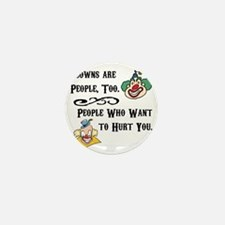 Clown are People Too Mini Button