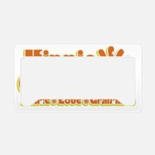 Hippie Grandma License Plate Holder