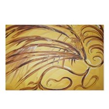 Feathered Gold Postcards (Package of 8)