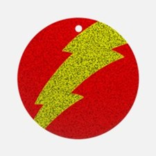 Flash Bolt Superhero Round Ornament