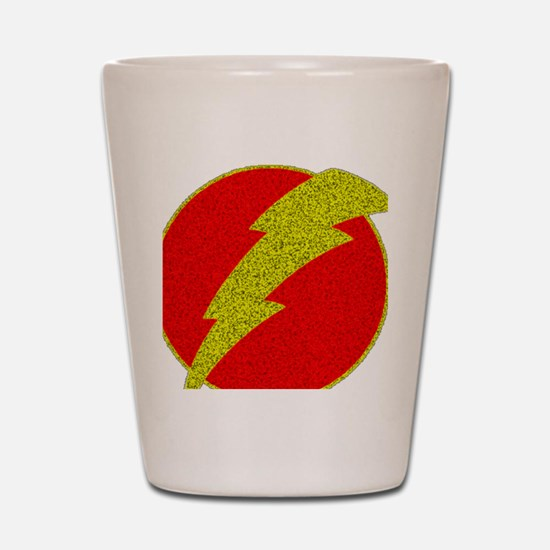 Flash Bolt Superhero Shot Glass