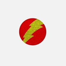 Flash Bolt Superhero Mini Button