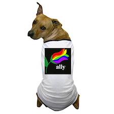 button ally flower 2 Dog T-Shirt