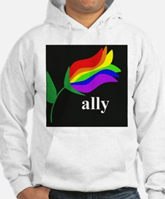 button ally flower 2 Hoodie