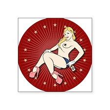 "HILLBILLY TASHA MAGNETS Square Sticker 3"" x 3"""