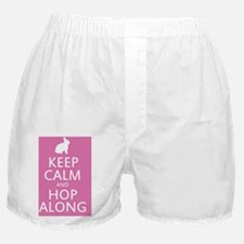 Keep calm and hop along for easter Boxer Shorts