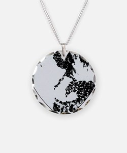 Black And White Heart Necklace