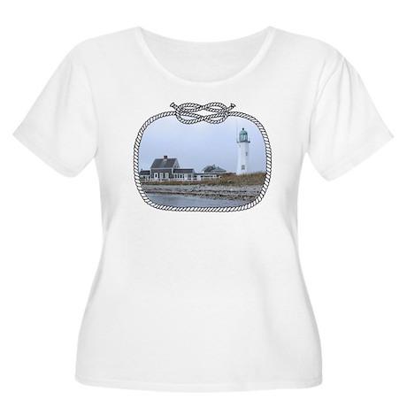 Old Scituate Lighthouse Women's Plus Size Scoop Ne