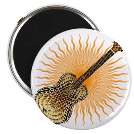 Wavy sunburst orange Magnet