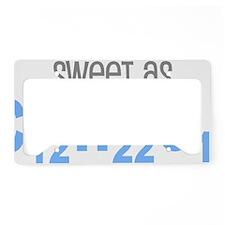 Sweet as Sugar Chemistry License Plate Holder
