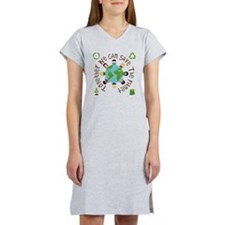 Together Save the Planet Women's Nightshirt
