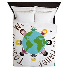 Together Save the Planet Queen Duvet