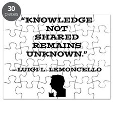 Knowledge Not Shared Remains Unkown Puzzle