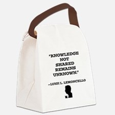 Knowledge Not Shared Remains Unko Canvas Lunch Bag