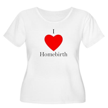 I Heart Homebirth Plus Size Scoop Neck T-Shirt