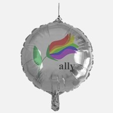 ally flower on clear with black text Balloon