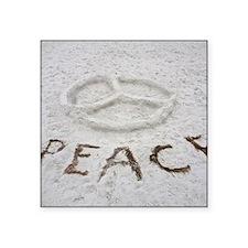 """Peace Square Sticker 3"""" x 3"""""""