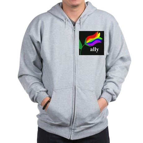 AllyFlowerSquare Zip Hoodie
