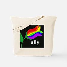 AllyFlowerSquare Tote Bag