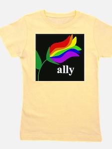 AllyFlowerSquare Girl's Tee