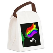 AllyFlowerSquare Canvas Lunch Bag