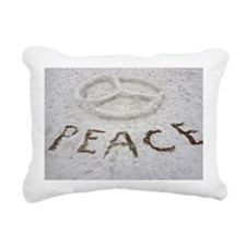 Peace Symbol Rectangular Canvas Pillow