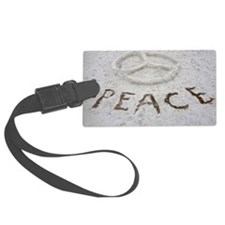 Peace Symbol Luggage Tag