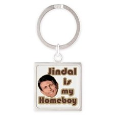 Bobby Jindal is my homeboy Square Keychain