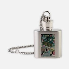 Escape From Mr. Lemoncellos Library Flask Necklace