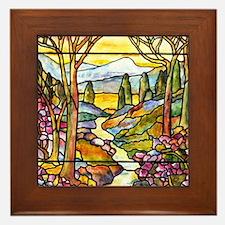 Tiffany Landscape Window Framed Tile