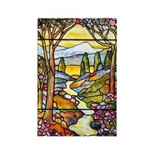 Tiffany Landscape Window Rectangle Magnet