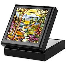 Tiffany Landscape Window Keepsake Box