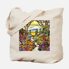 Tiffany Landscape Window Tote Bag