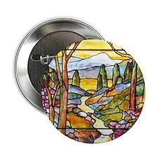 "Tiffany Landscape Window 2.25"" Button"