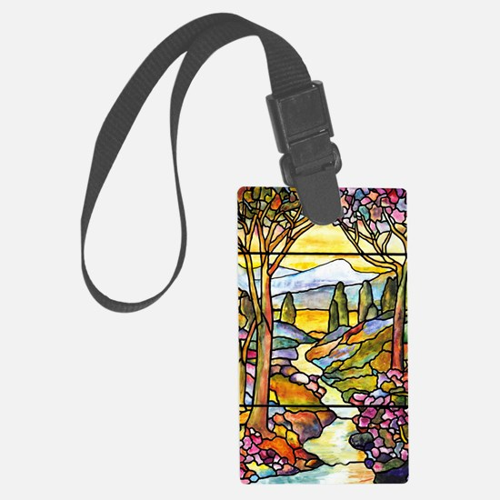 Tiffany Landscape Window Luggage Tag