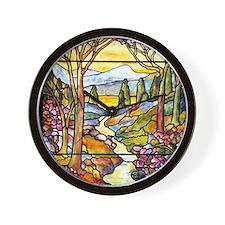 Tiffany Landscape Wall Clock