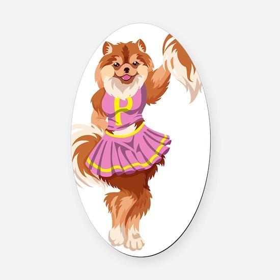 Pom_Pomeranian_canvas_messenger_ba Oval Car Magnet