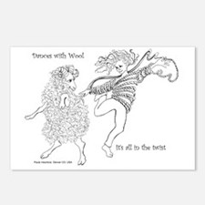 Dances with Wool ... Its  Postcards (Package of 8)