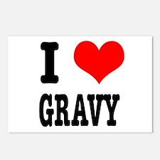 I Heart (Love) Gravy Postcards (Package of 8)