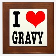 I Heart (Love) Gravy Framed Tile